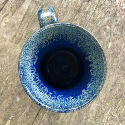 blue mug from top