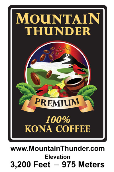 mountain thunder coffee label